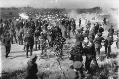 Workers at the Republic Steel Plant in Chicago, Illinois protested the company officials' refusal to sign a union contract. When the picketers refused to disperse, members of the Chicago Police Department deployed tear gas and shot and killed 10 demonstrators on the picket line. The event is coined the Memorial Day Massacre, May 30, 1937.