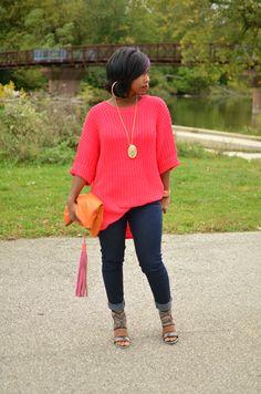 Fall 2014 Sweaters / Fall Outfit Idea 2014 So cute! Curvy Fashion, Denim Fashion, Plus Size Fashion, Fashion Looks, Fashion Outfits, Womens Fashion, Style Fashion, Fall Winter Outfits, Autumn Winter Fashion