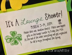 Crayons and Whimsy: A Shower for the Teachers' Lounge!
