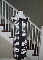 Black and White London Times Dress