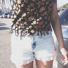 sunflower shirt + lace shorts macbarbie07 :)