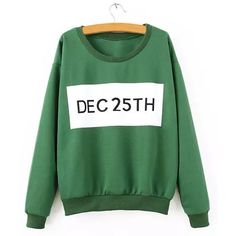 Casual Long Sleeve Letter Jewel Neck Sweatshirt For Women #men, #hats, #watches, #belts, #fashion