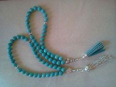 Islamic Prayer Beads Aqua Turquoise. Muslim 33 Beads.