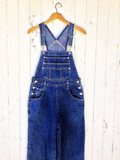 d1445750d8 Vintage 80s 90s Denim Overalls size S London London Dark Wash on Etsy