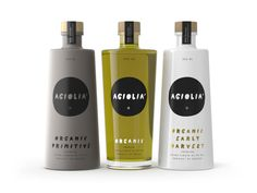 Agiolia Olive Oils in containers Olive Oil Packaging, Spices Packaging, Olive Oil Brands, Olive Oils, Olives, Olive Oil Bottles, Bottles And Jars, Product Label, Bottle Design