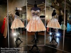 Nude/Silver Sweetheart Strapless Tulle Homecoming Dress