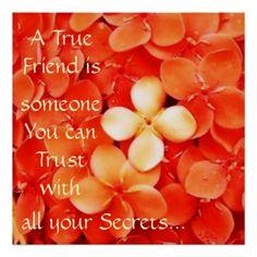 Friendship Quote Tangerine Orange Blossoms Posters
