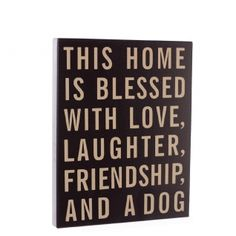 House is Blessed Dog or Cat Wooden Sign --- Quick Info: Price £10.50 Whether you're a dog lover or a cat lover, we've got it covered with our delightful House is Blessed Wooden Sign. --- Available from Roman at Home. Images Copyright www.romanathome.com