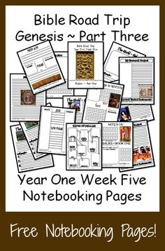 {Free Printable Notebook Pages} Bible Road Trip ~ Year One Week Five