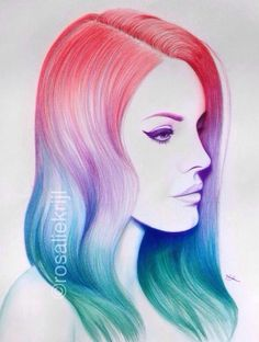 Lana Del Rey pencil portrait by Rosalie Krijl