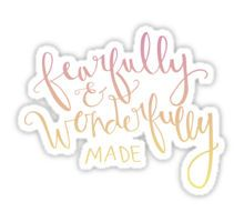Psalm 139 : 14 Sticker
