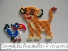 Zazu Simba Disney hama beads More