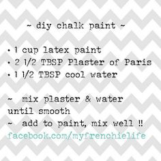 Homemade Chalk Paint Review