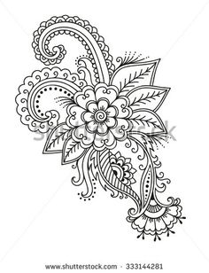 Mehndi Flower Pattern Henna Drawing Tattoo Stock Vector (Royalty Free) 333144281 - Mehndi flower pattern for Henna drawing and tattoo. Decoration in ethnic oriental, Indian style. Henna Mandala, Mandala Tattoo Design, Henna Art, Hand Henna, Henna Hands, Mehndi Drawing, Henna Drawings, Mandala Drawing, Henna Tattoo Designs