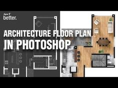 Tuto [ENG]: Architecture Floor Plan in Photoshop Plans Architecture, Education Architecture, Landscape Architecture, Architecture Design, Architecture Mapping, Photoshop Youtube, Photoshop Tutorial, Photoshop Actions, Photoshop Elements