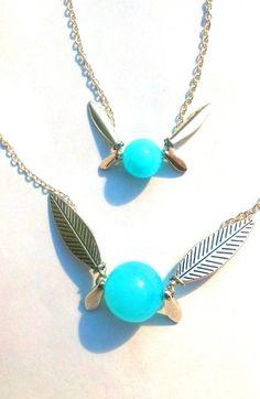 Legend of Zelda Navi inspired fairy necklace and bracelet combo by HylianCrafts on Etsy, $20.00