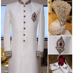 Sherwani For Men Wedding, Wedding Dresses Men Indian, Wedding Outfits For Groom, Groom Wedding Dress, Wedding Men, Luxury Wedding, Sherwani Groom, Indian Groom Dress, Moda Masculina
