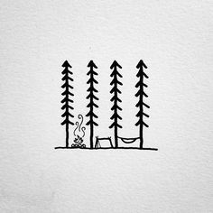 Doodling up some ideas for a project. #drawing #doodle #penandink #micron #art #doodling #camping #campvibes #campfire #hammock #hammockcamping #hammocklife #homeiswhereyoupitchit #trees #forest #portland #oregon #pnw #upperleftusa #linework #lineweight #tattoodesign #design #graphicdesign #illustration #illustree #camplife