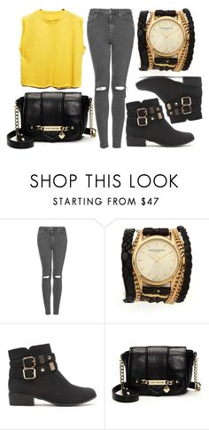 """""""Sin título #66"""" by brendick ❤ liked on Polyvore featuring Topshop, Sara Designs, Black Poppy and Juicy Couture"""