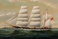 BBC - Your Paintings - Three-masted barque 'Scottish Bard'