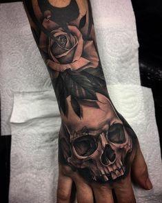 45+ Fantastic Hand Back Tattoo:Classic Combo Hand Tattoo