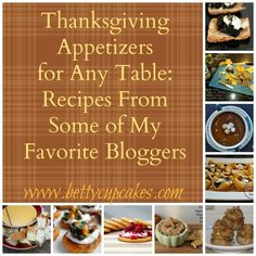 Thanksgiving Appetizers | BettyCupcakes.com #Thanksgiving #appetizers