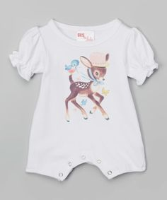 This White Fawn Romper - Infant is perfect! #zulilyfinds