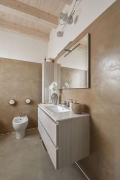 Praha, Cement, Vanity, Bathroom, Design, Powder Room, Dressing Tables, Bathrooms, Vanity Organization