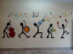 foundation pakistan yasmeen rasheed school public adkins jannah paint music room wall by Music Room Wall Paint by Yasmeen Rasheed Foundation Public School Pakistan Jannah Adkins You can find Pakistan and more on our website Mural Art, Wall Murals, Wall Painting Decor, Simple Wall Paintings, Easy Paintings, Painting Art, School Murals, School Painting, School Decorations