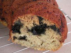 Light Banana Blueberry Bread