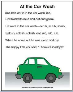 Car wash song,  poem.