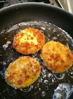 ⭐️⭐️⭐️⭐️⭐️The Best Fried Green Tomatoes! Served with balsamic vinegar drizzled over the top and some crumbled goat cheese. YUM!