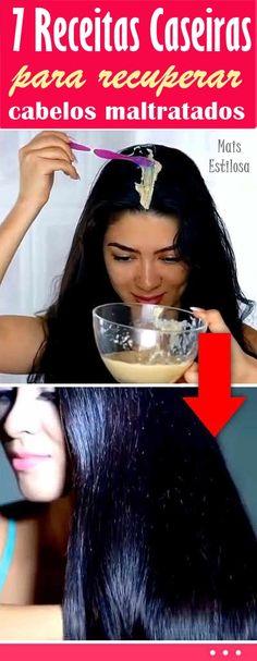 7 receitas caseiras para recuperar cabelos maltratados quebradiços e danificados.