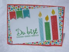 Stampin mit Scraproomboom - Stampin' Up! Build a Birthday, You can purchase supplies at www.sharikeller.stampinup.net
