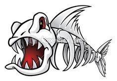 Get royalty-free images, photos, vectors, illustrations and videos from the best microstock - Depositphotos. Cartoon Fish, Cartoon Art, Fish Drawings, Art Drawings, Shetland, Fish Skeleton, Posca Art, Fish Art, Drawing Sketches