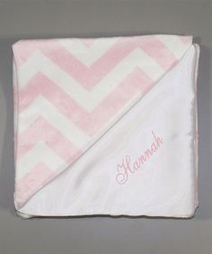 Another great find on #zulily! Pink Zigzag Personalized Stroller Blanket #zulilyfinds
