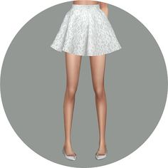 Flare skirt V1 Single color at Marigold • Sims 4 Updates