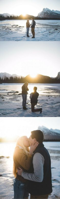 One of her favorite photographers flew out to capture this stunning snowy proposal, and the photos are gorgeous! Wedding Proposals, Marriage Proposals, Wedding Tips, Wedding Planning, Dream Wedding, Winter Proposal, Christmas Proposal, Cute Couples Photos, Couple Photos