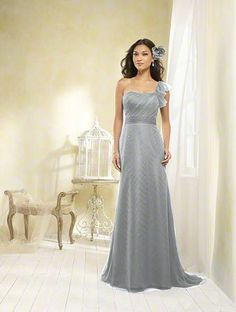 Alfred Angelo Bridal Style 8608 from Modern Vintage Bridesmaids color: morning fog