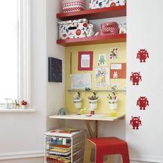 Ways to use Ikea in boys room Alcove Storage, Kids Storage, Storage Ideas, Pot Storage, Storage Shelving, Smart Storage, Storage Solutions, Bedroom Nook, Kids Bedroom