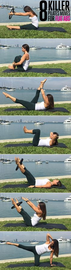 Workout : Flat Abs Without a Single Crunch, Plank or Burpee Yoga Fitness, Fitness Tips, Fitness Motivation, Health Fitness, Pilates Moves, Pop Pilates, Pilates Video, Pilates Workout Routine, Pilates Reformer