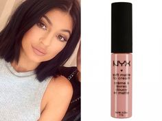 kylie jenner uses NYX's Soft Matte Lip Cream (£6.50) for pout