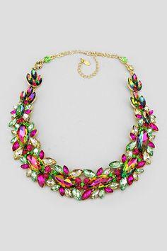 Crystal Elizabeth Necklace in Vitrail on Emma Stine Limited