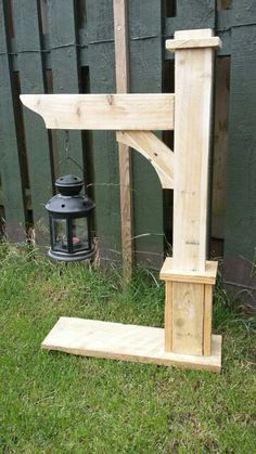 Make taller - All For Garden Scrap Wood Projects, Woodworking Projects Diy, Outdoor Projects, Outdoor Decor, Pallet Crafts, Wood Crafts, Wood Pallets, Pallet Wood, Garden Posts