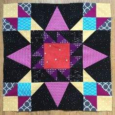 Fireworks block by Charm about You.  Free pattern by Marcia Hohn,