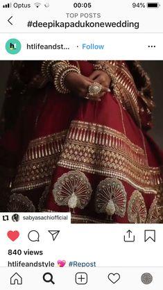 Zardozi Embroidery, Embroidery Suits, Beaded Embroidery, Deepika Padukone Lehenga, Sabyasachi Lehenga Bridal, Wedding Lehenga Designs, Designer Bridal Lehenga, Rajasthani Dress, Rajputi Dress