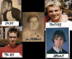 Very young A7X avenged sevenfold. Proof that high school nerds make HOT music men!