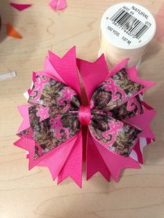 Browning camo hair bow by MsKiddoKreations on Etsy Kids Hair Bows, Girls Bows, Ribbon Crafts, Ribbon Bows, Ribbons, How To Make Hair, How To Make Bows, Hair Bow Tutorial, Boutique Hair Bows