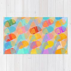 Waves and Spots Rug by Mirimo | Society6