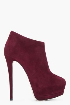 Burgundy Suede Eva Booties